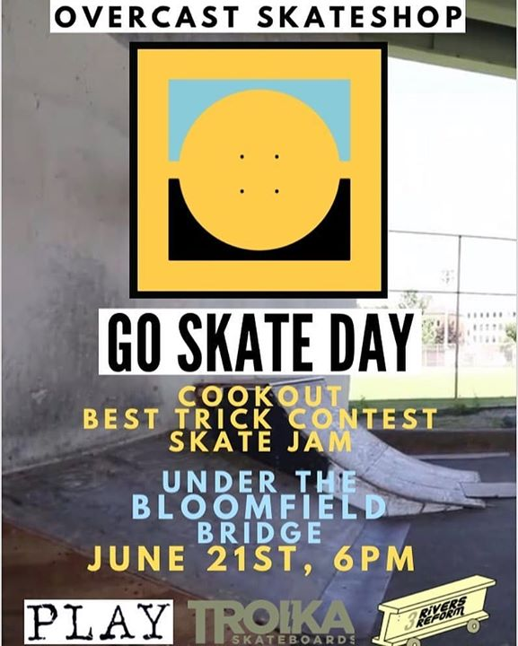 Our friends @overcastskateboardshop are putting on a little Go Skate Day event this Friday…