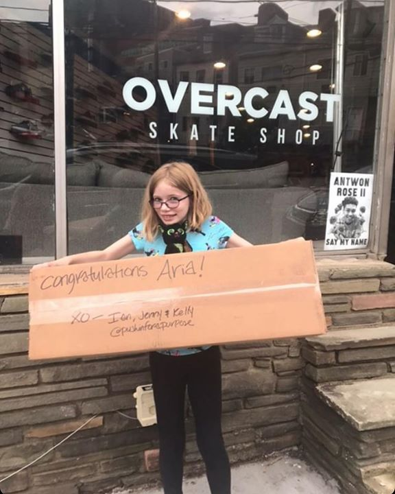 """What a cool surprise! Aria, the 1st place winner of our """"Design Your Dream…"""